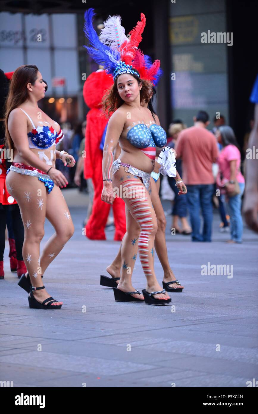 times square naked girl