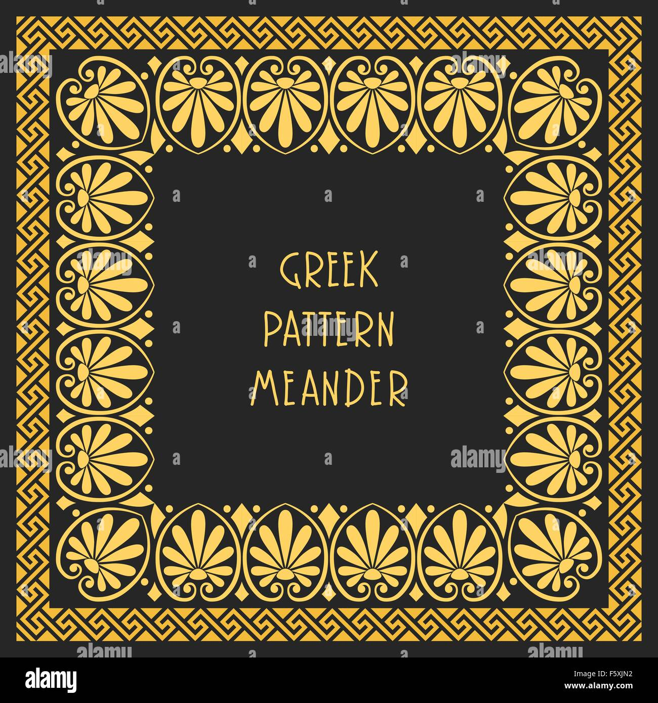 Vector frame with greek ornament meander stock vector art vector frame with greek ornament meander jeuxipadfo Gallery