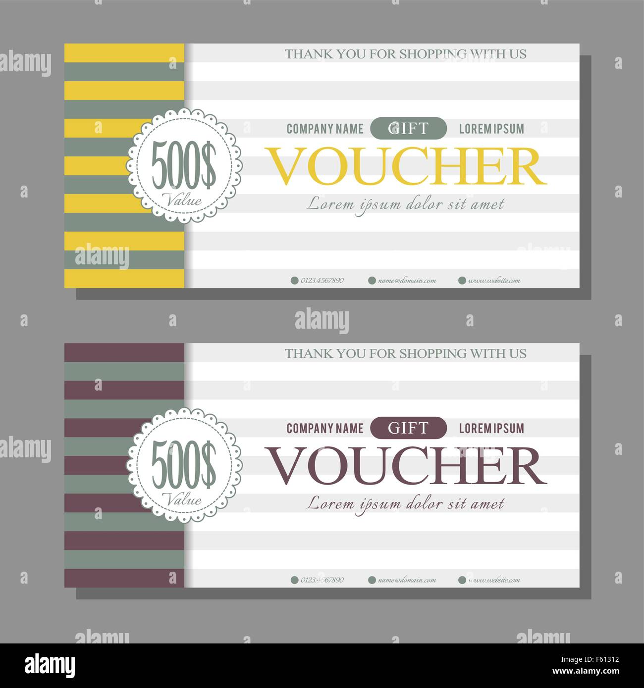 Vintage Gift Voucher Template  Lunch Voucher Template