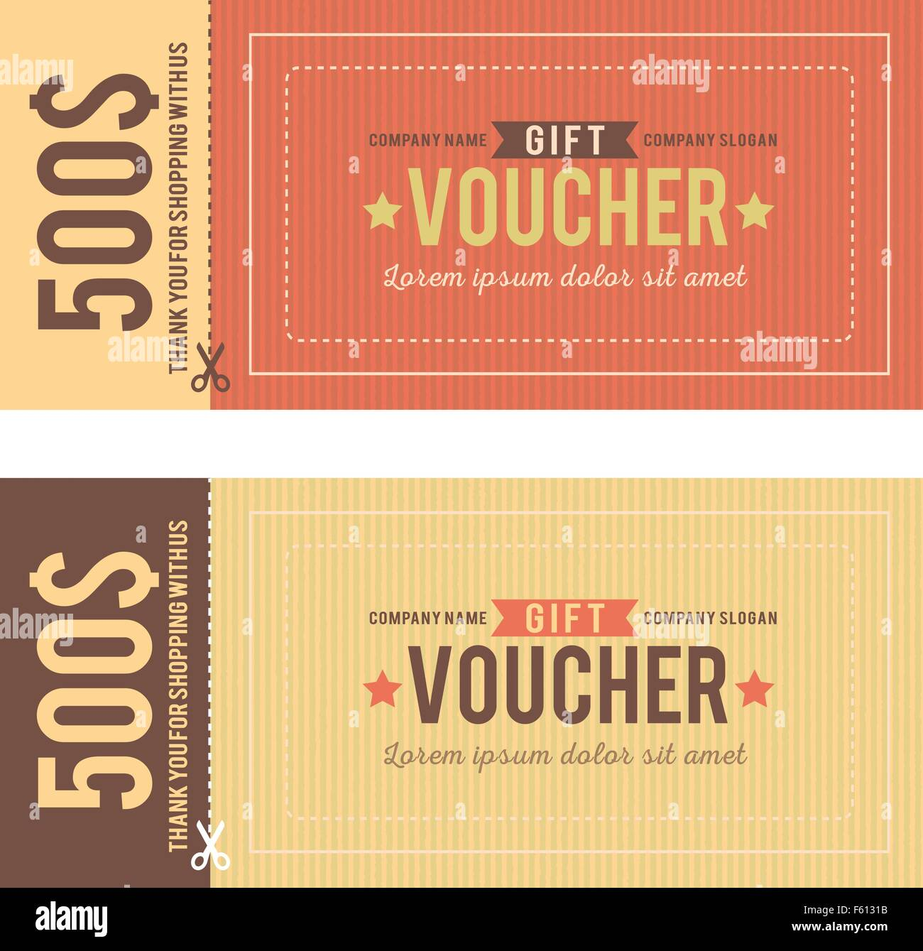 Vintage gift voucher vector template stock vector art vintage gift voucher vector template yadclub Image collections