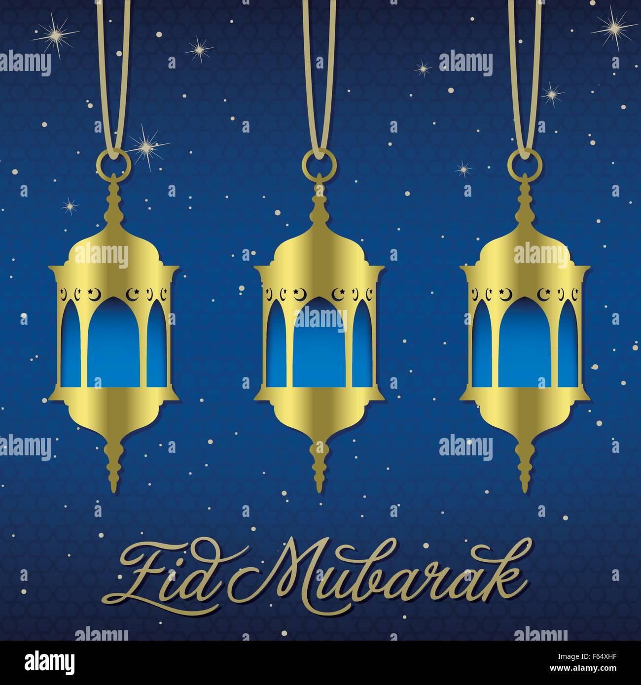 Eid mubarak blessed eid lantern greeting card in vector format eid mubarak blessed eid lantern greeting card in vector format kristyandbryce Image collections