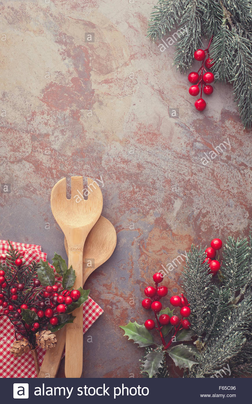 Christmas Menu Christmas Background With Old Wooden