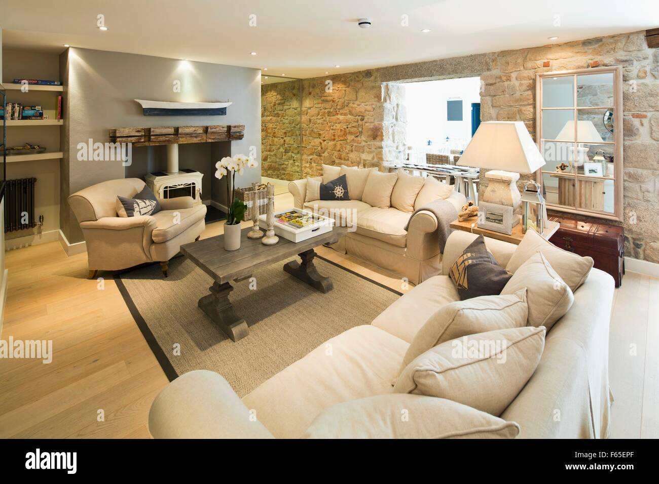 Stock Photo   The Living Room In The Tide House Hotel In St. Ives  (Cornwall, England Part 10