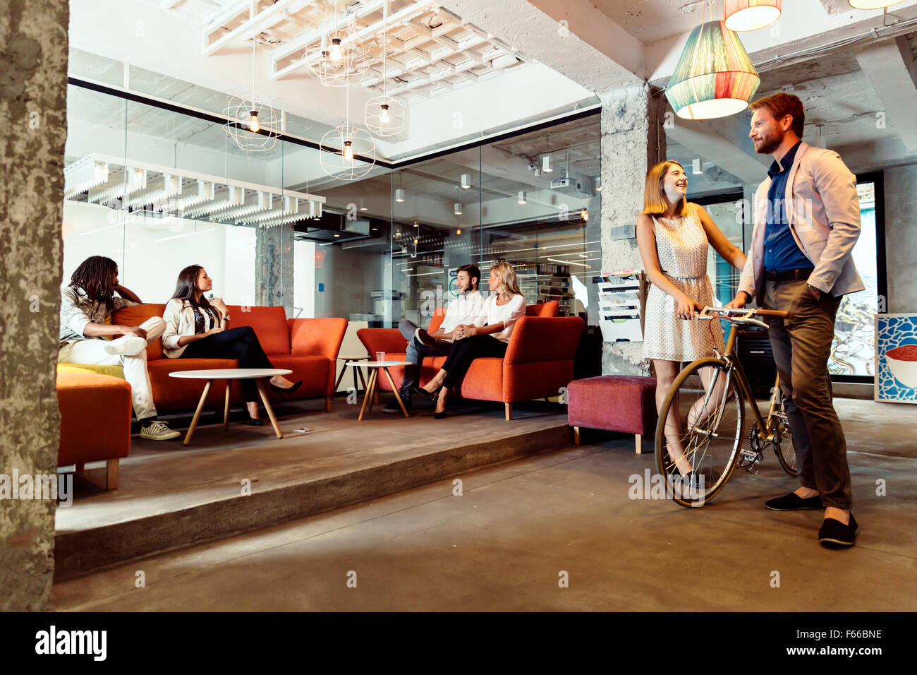 Bicycle Shop Girl Stock Photos Bicycle Shop Girl Stock Images