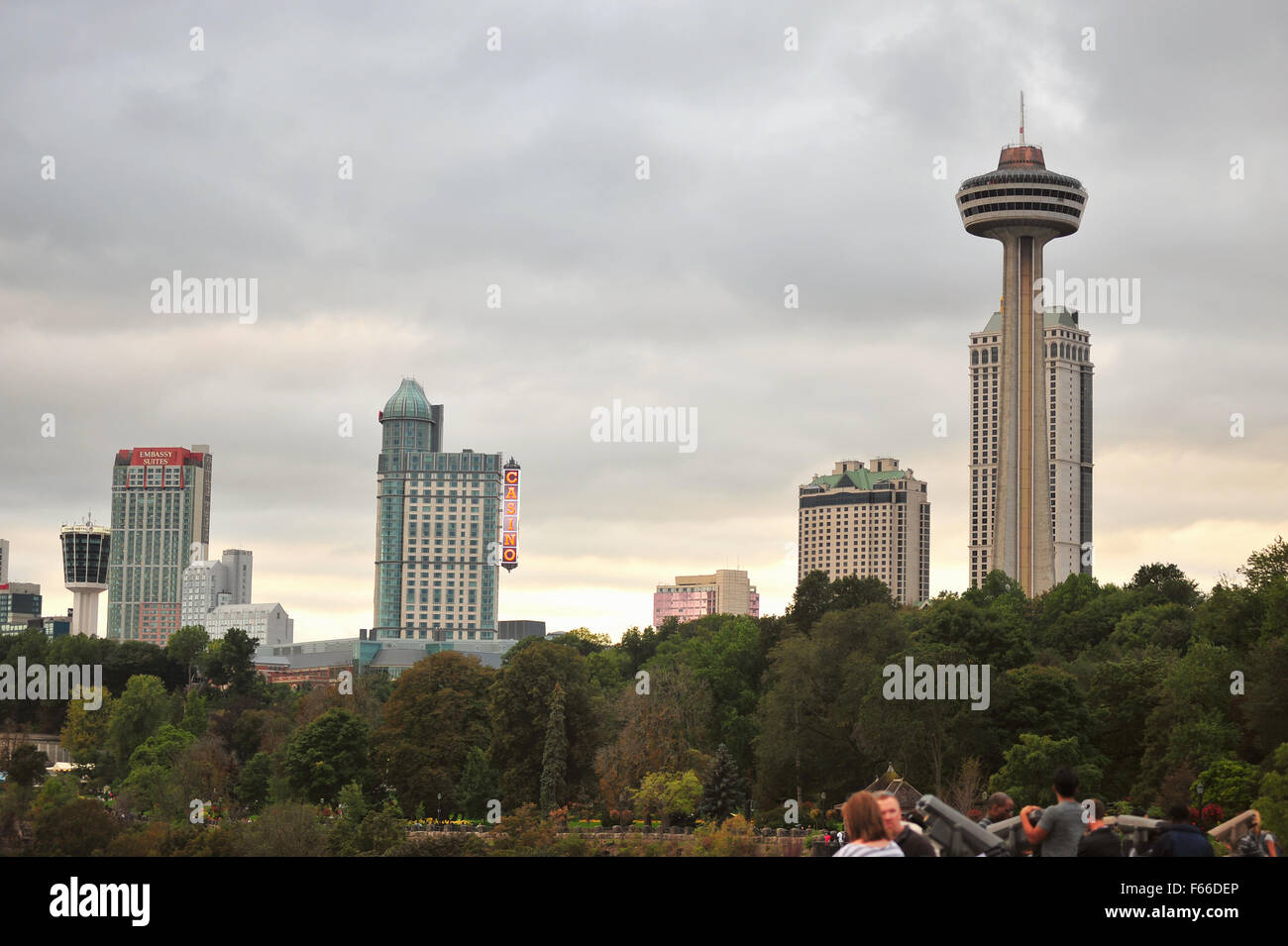 Tall buildings in the Canadian city of Niagara Falls in Ontario