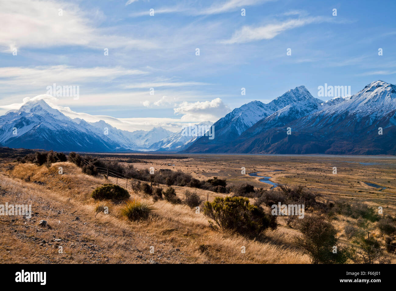 South island landscape scenery canterbury new zealand for Landscaping christchurch