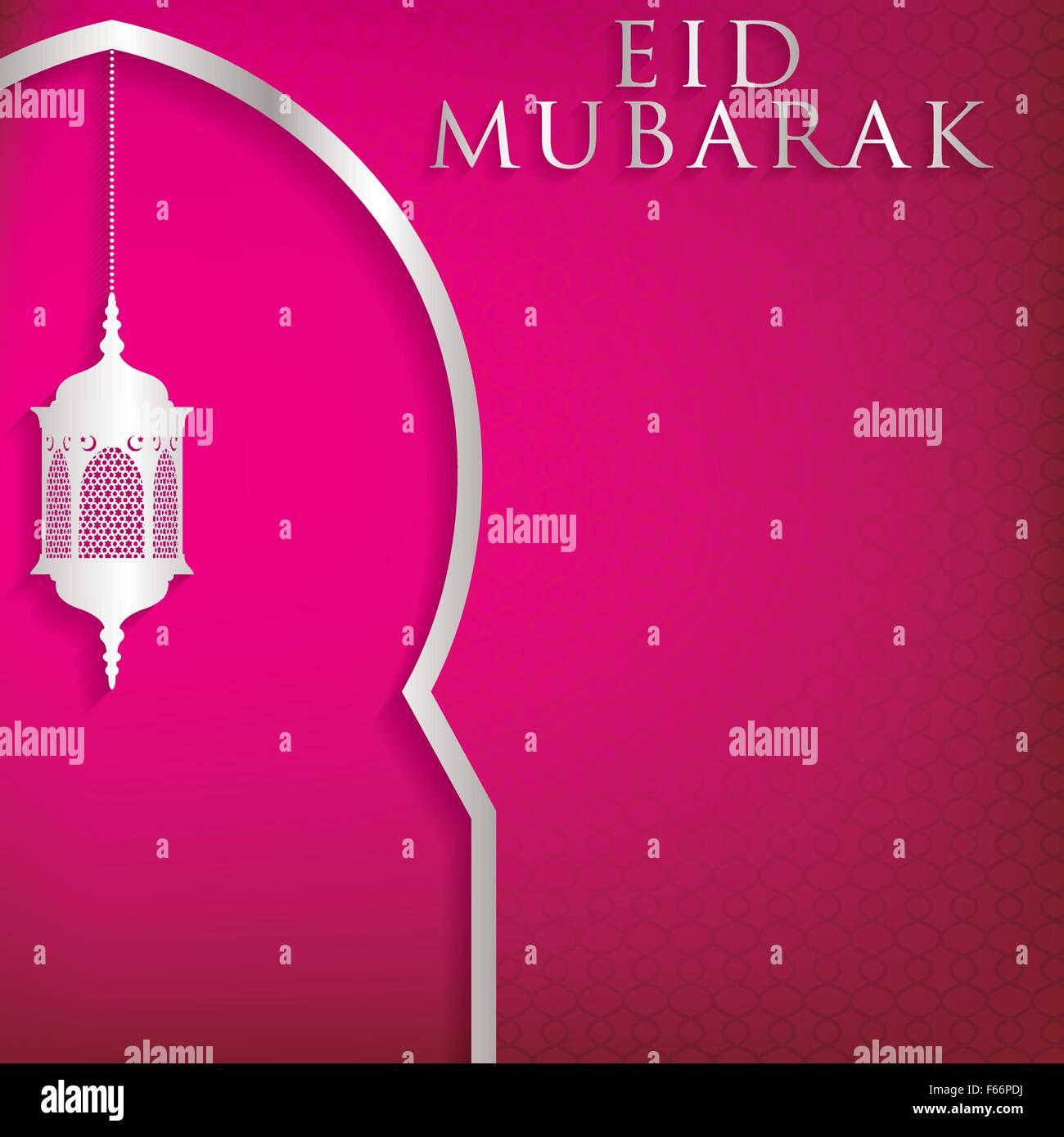 Eid mubarak blessed eid window and lantern card in vector eid mubarak blessed eid window and lantern card in vector format kristyandbryce Image collections