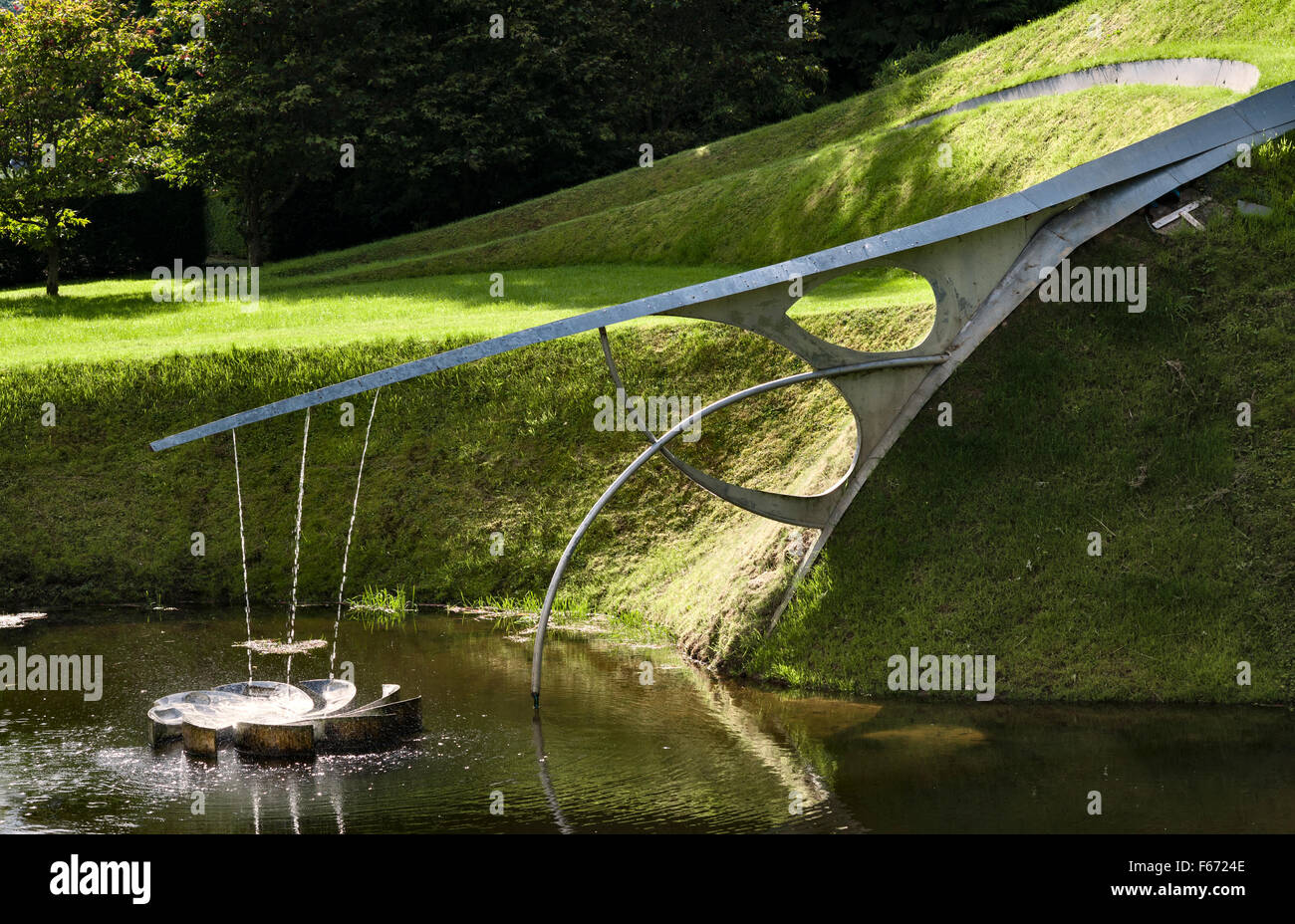 the garden of cosmic speculation dumfries scotland by charles stock photo royalty free image. Black Bedroom Furniture Sets. Home Design Ideas
