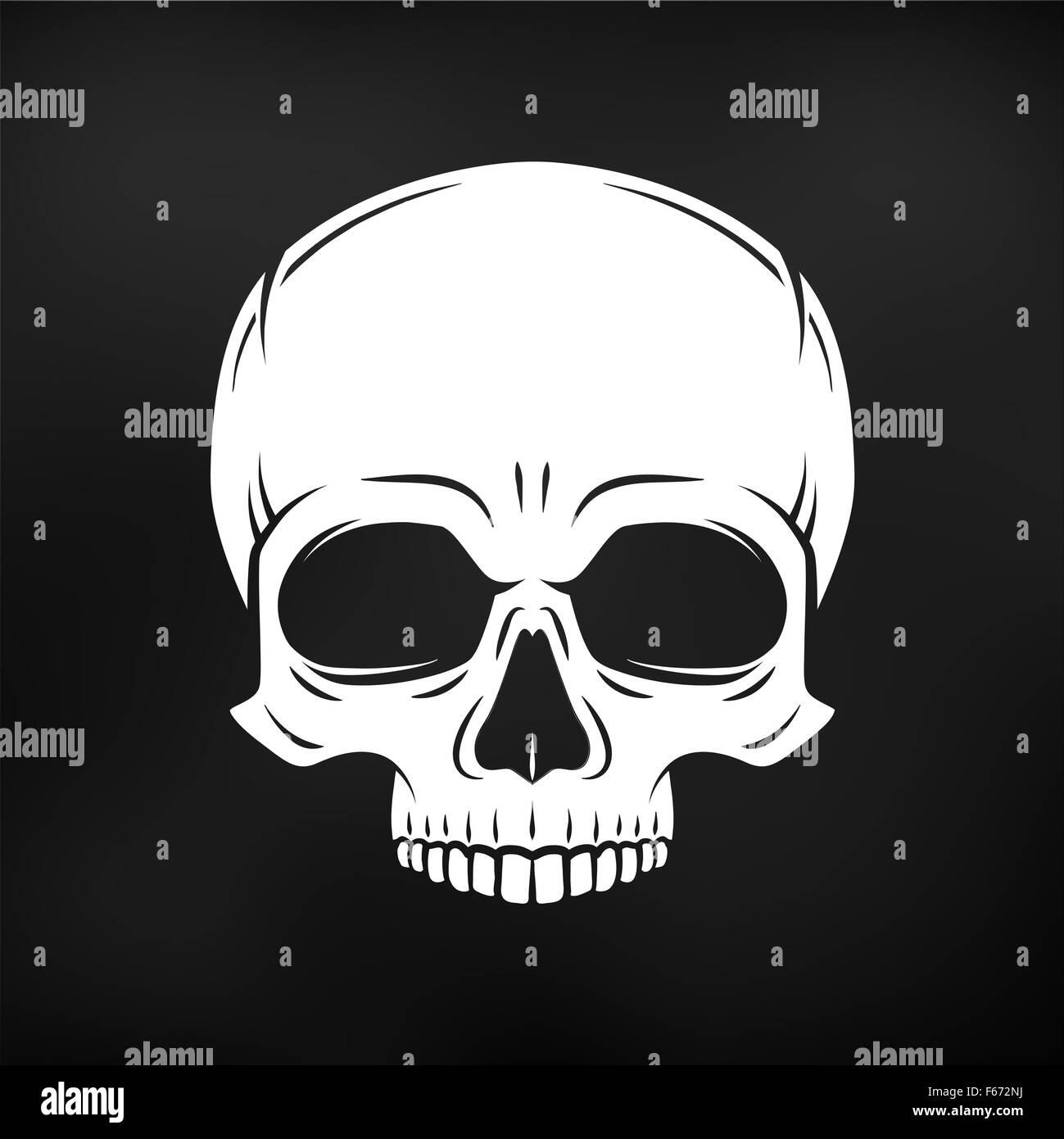 Design t shirt skull - Human Evil Skull Vector Jolly Roger Logo Template Death T Shirt Design