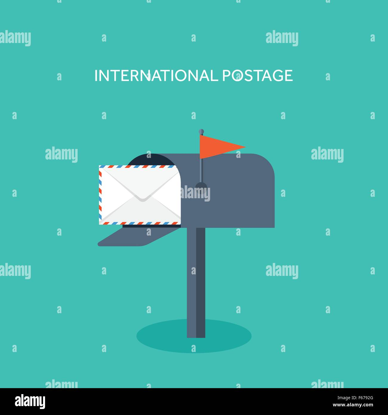 Vector Illustration. Flat Background With Envelope. Emailing ...