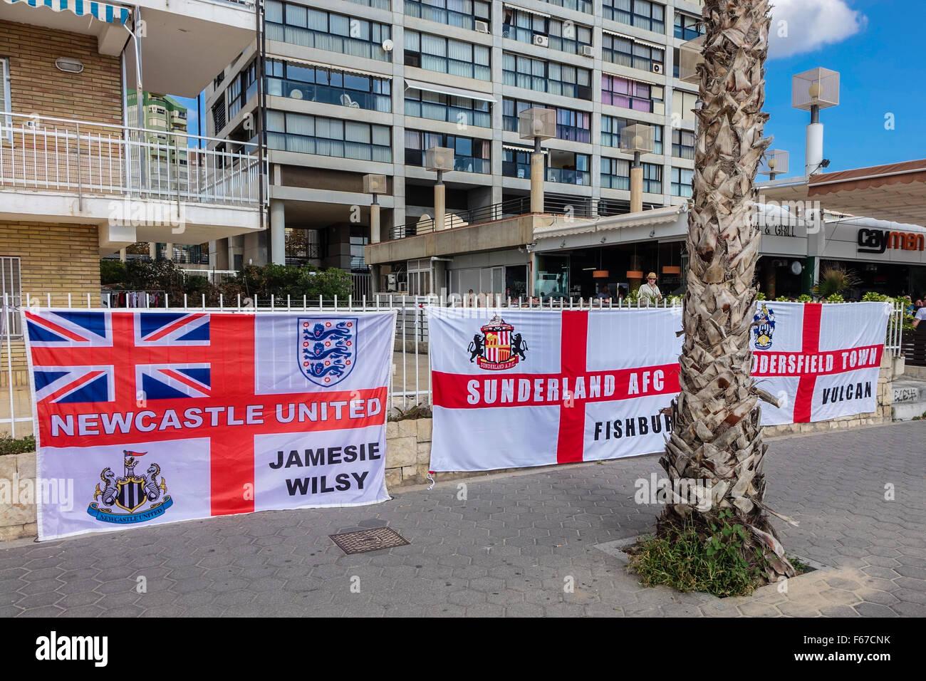 spain newcastle sunderland huddersfield flags flag english stock