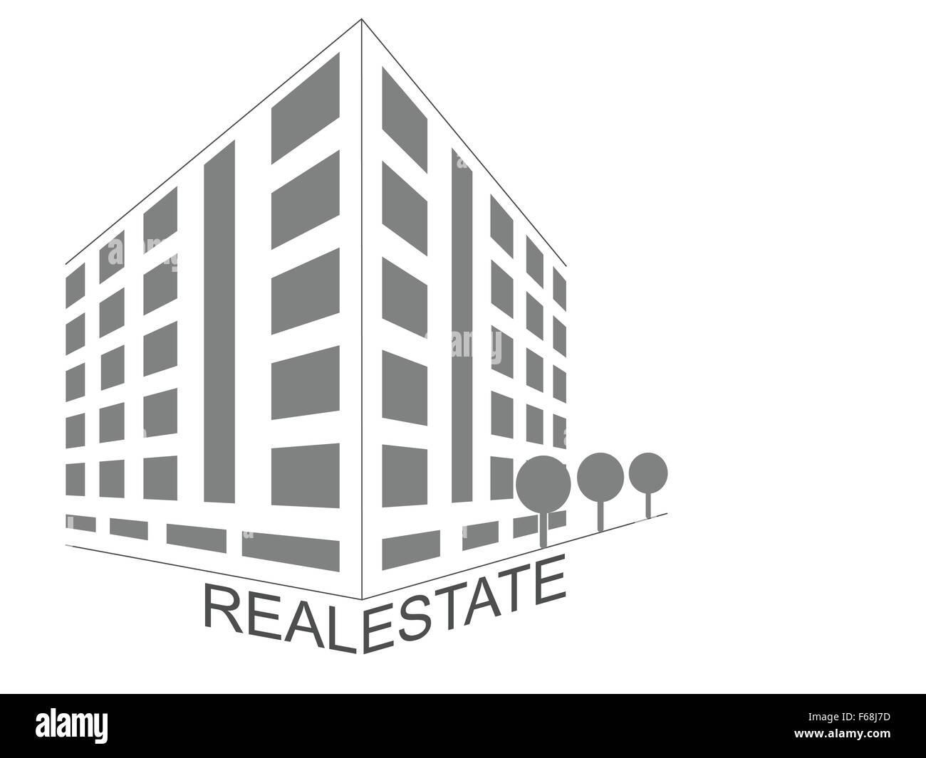 Real Estate Development Icon : Home icon abstract concept real estate development