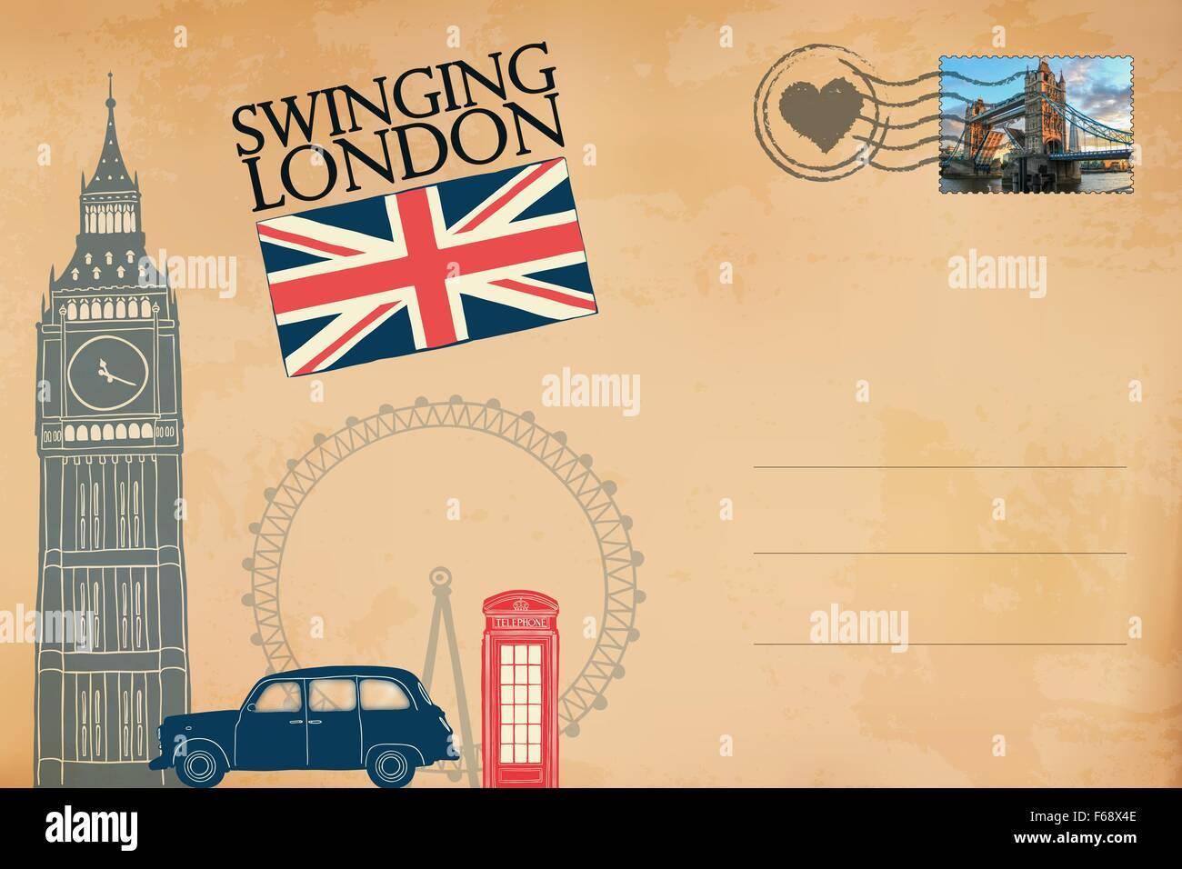 London postcard stock photo royalty free image 89935902 alamy