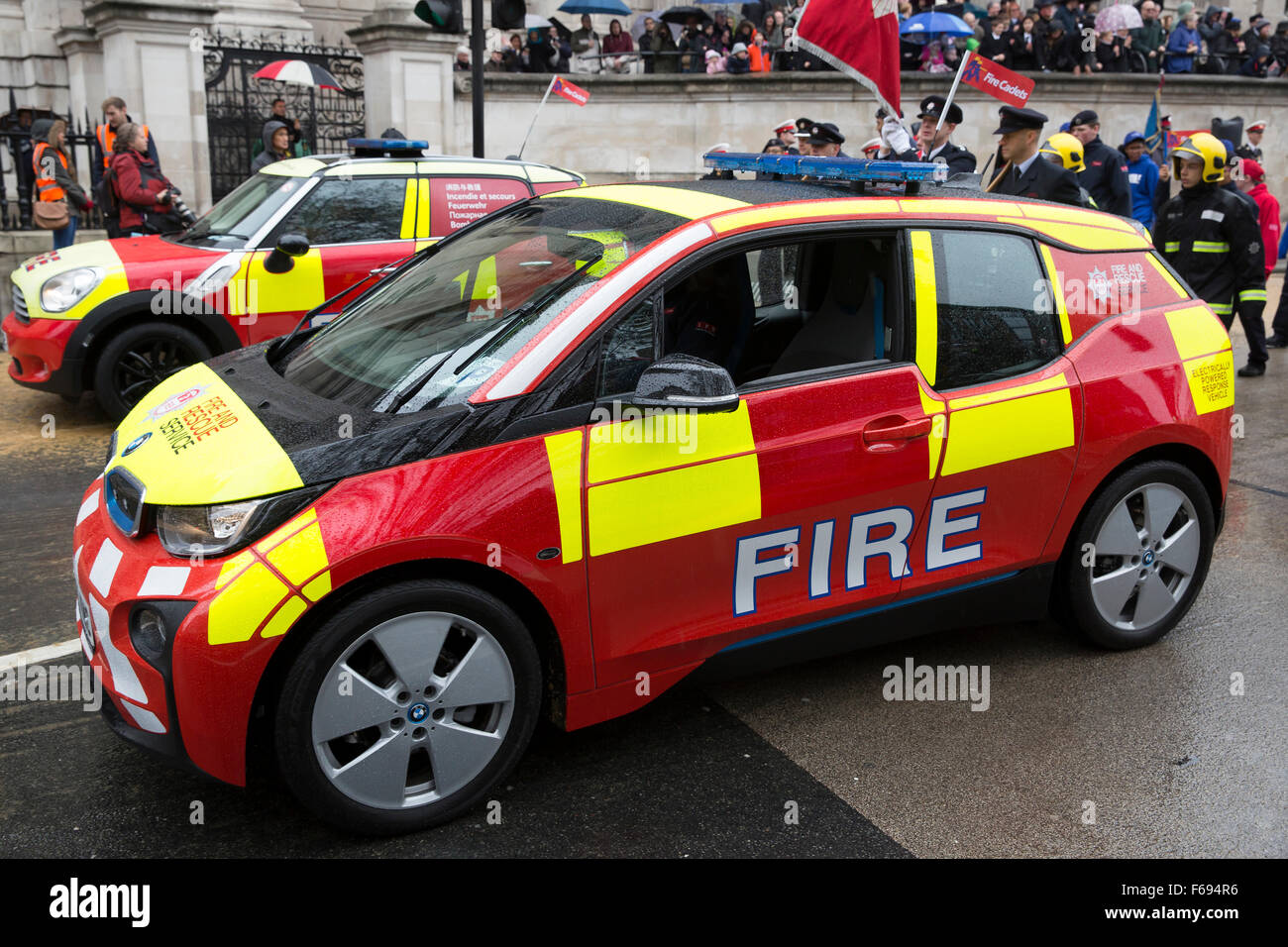 London,UK,14th November 2015,London Fire Brigade cars at the The ...