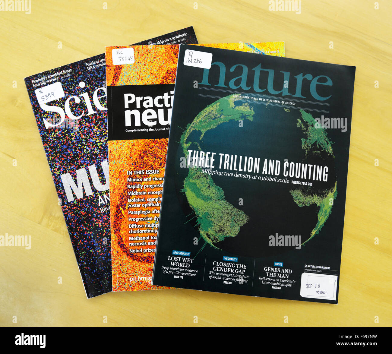 Peer reviewed scientific journals
