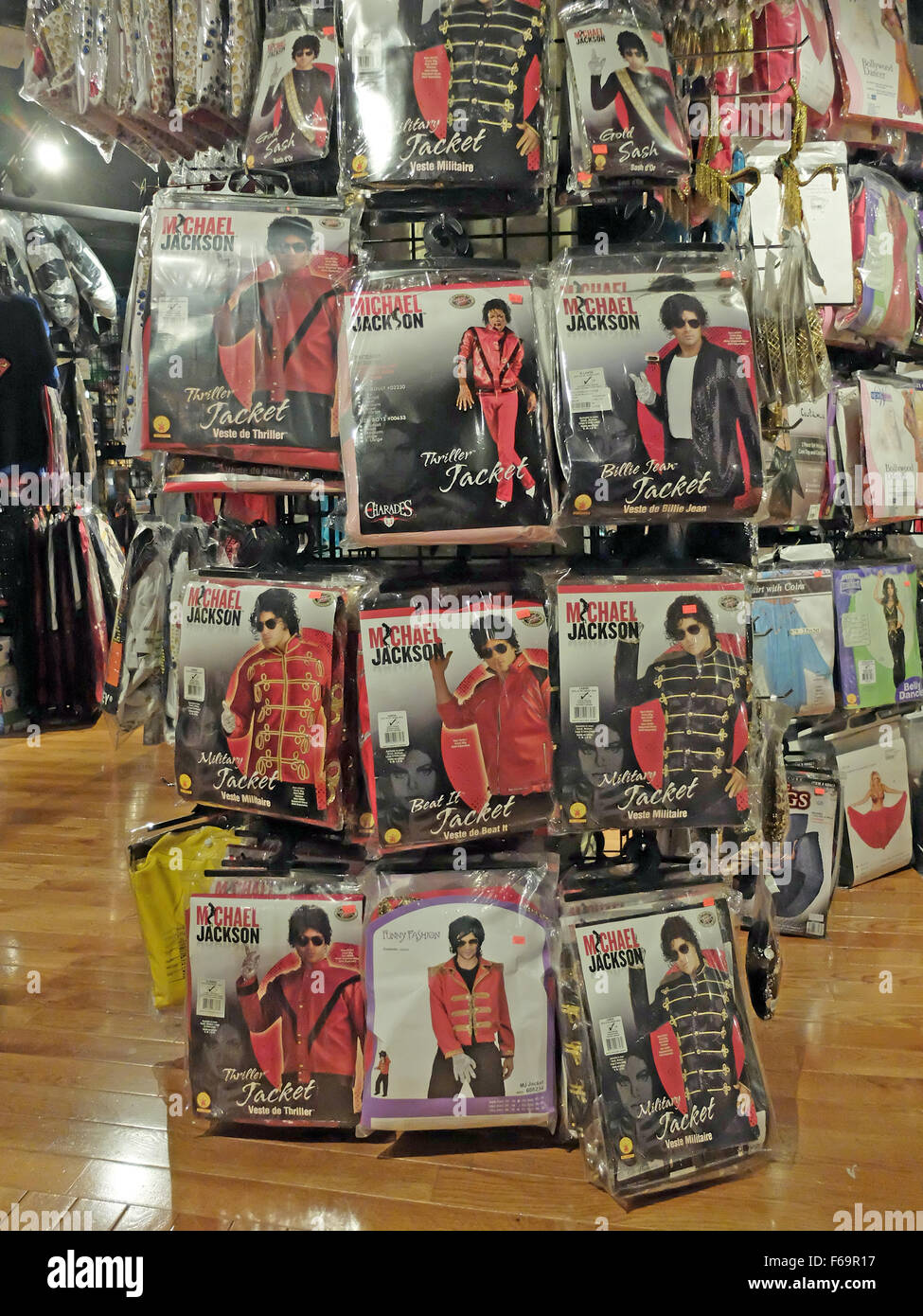 Michael Jackson costumes for sale at a large costume store in ...