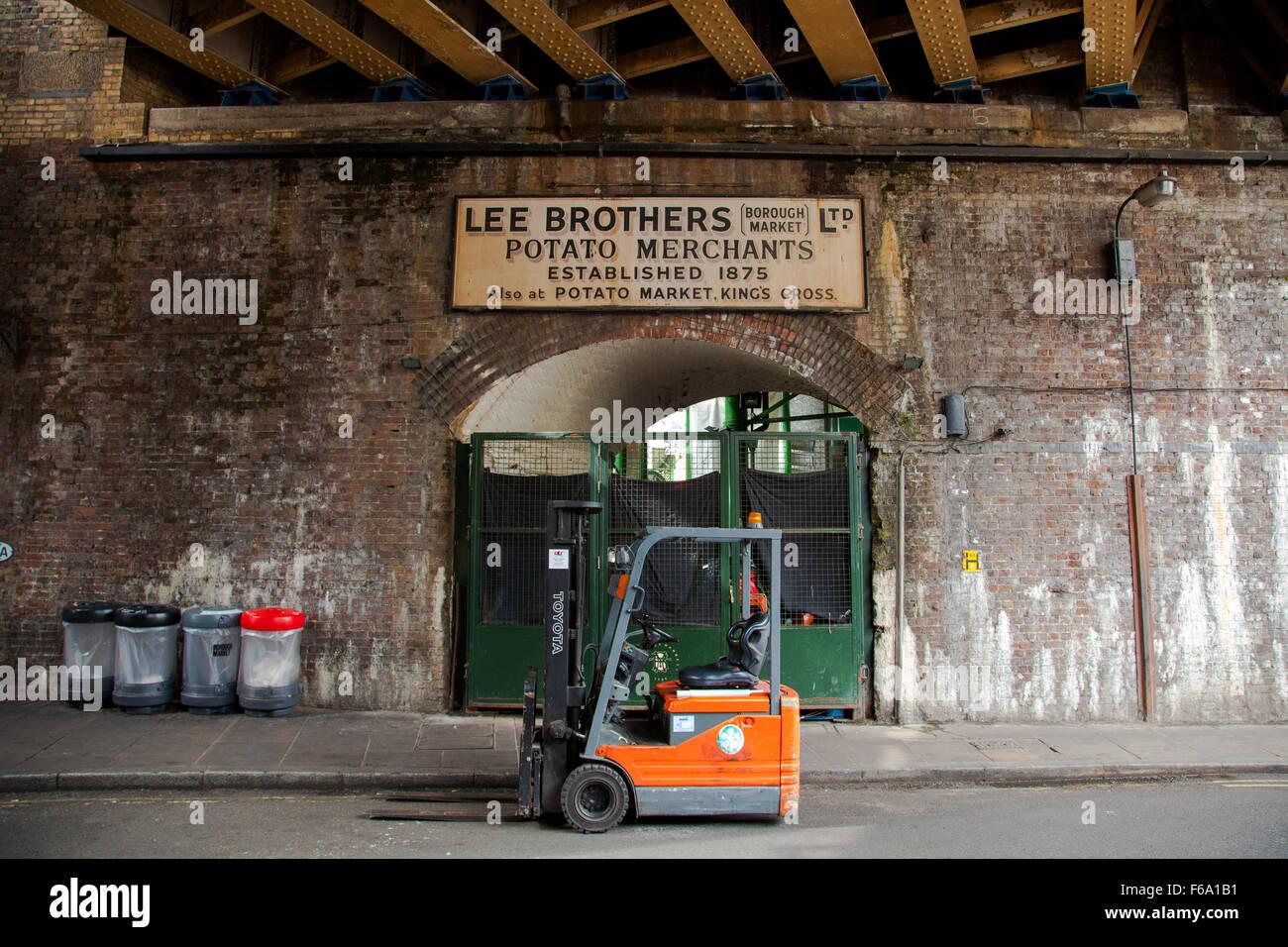 Lee Brothers Potato Merchants Borough Market London England U K