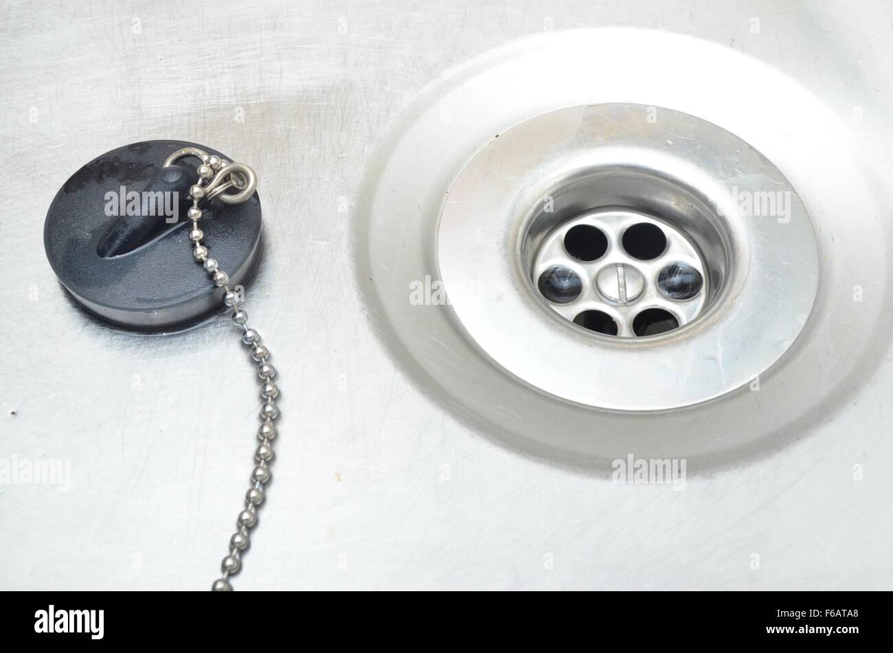 Kitchen Sink Plug Hole Stock Photo, Royalty Free Image: 89978400 ...