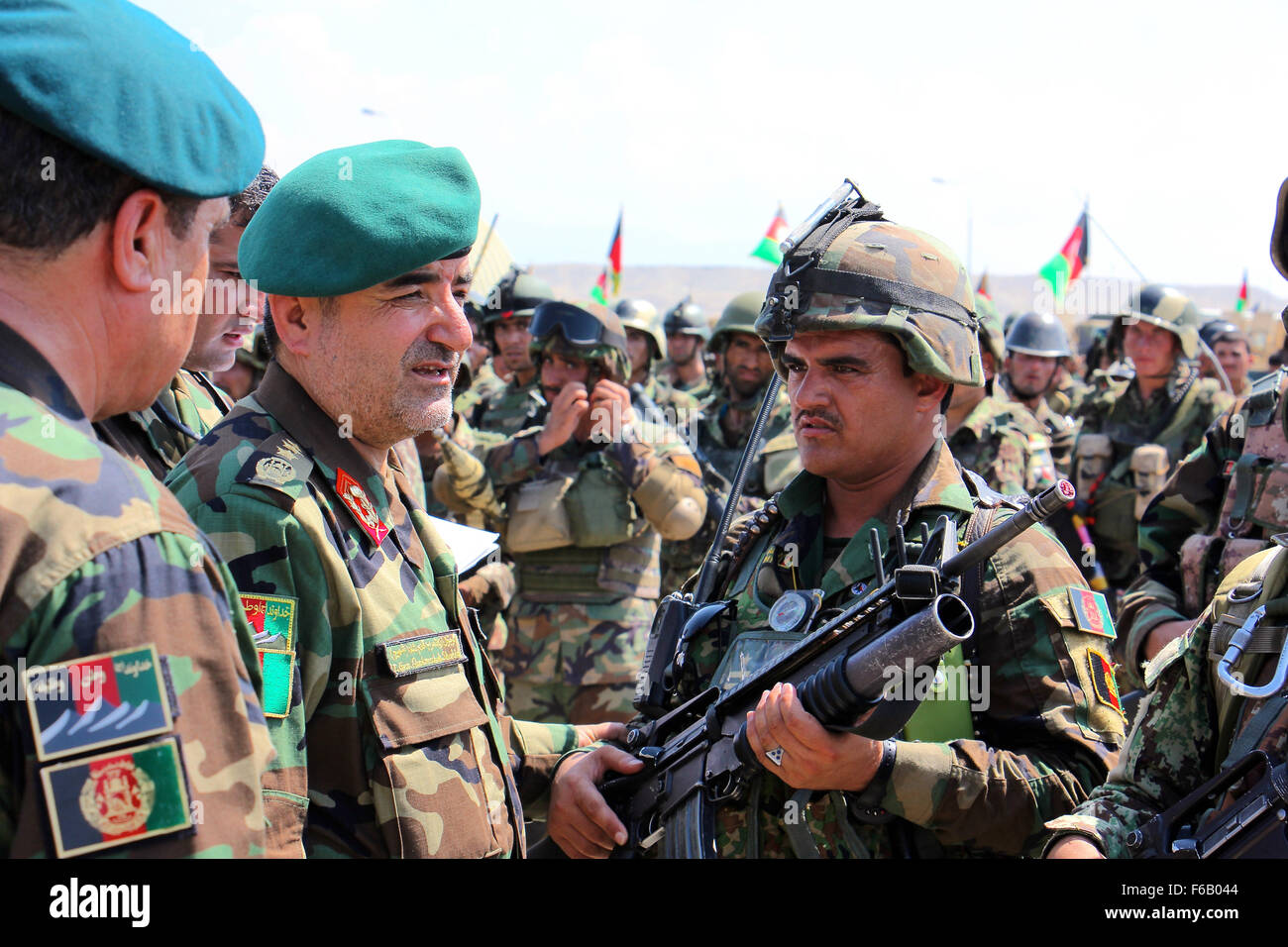 Army color casing ceremony script - Qadim Shah Center Left The Afghan National Army Chief Of