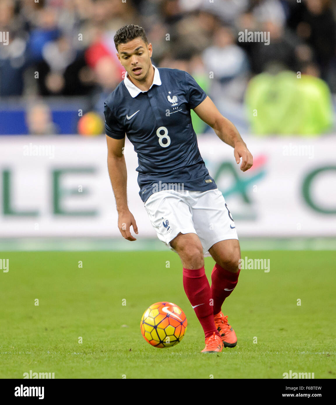 Paris France 13th Nov 2015 France s Hatem Ben Arfa in action