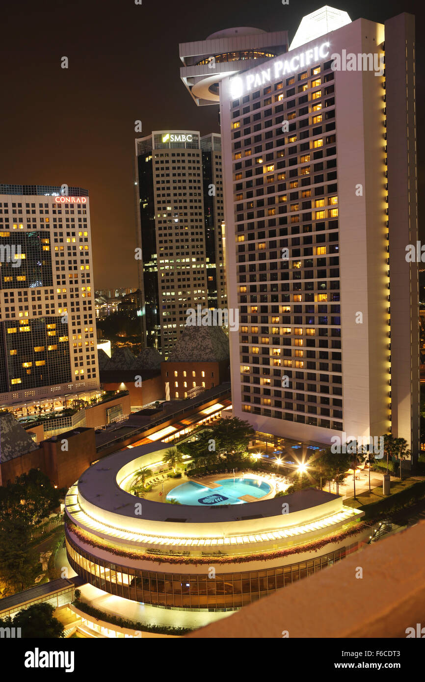 The pan pacific hotel in singapore the modern five star for Singapore five star hotel
