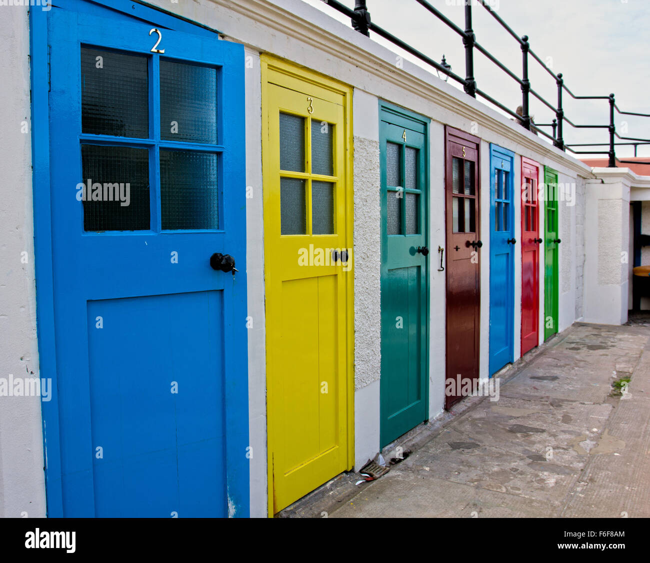 North Berwick multi colored doors & North Berwick multi colored doors Stock Photo Royalty Free Image ...