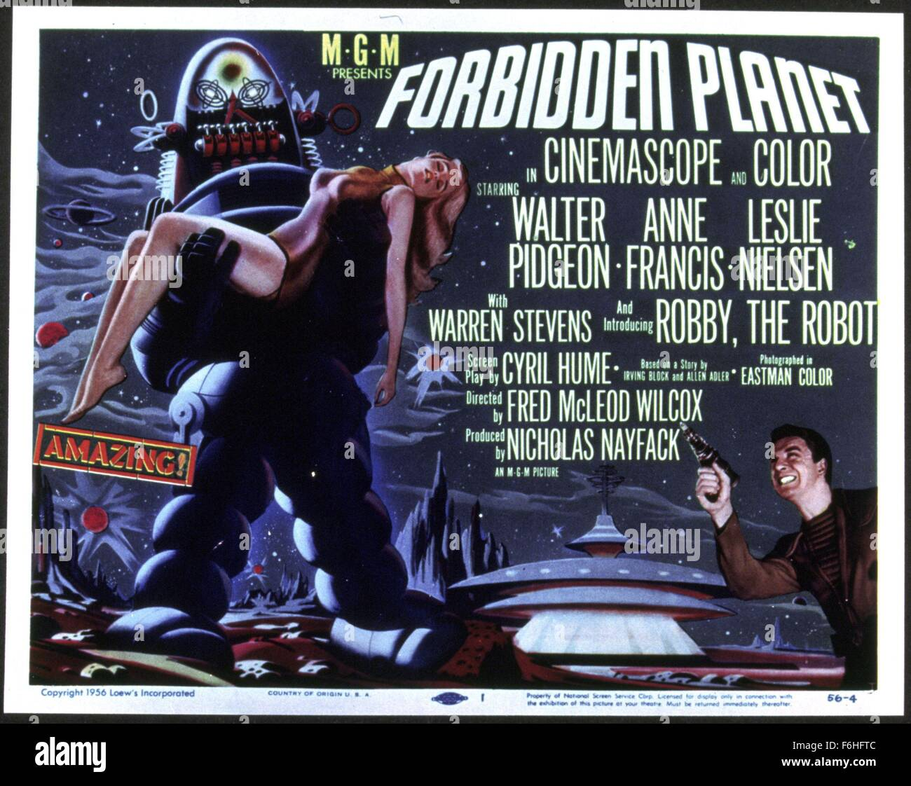 1956 film title forbidden planet director fred mcleod wilcox stock photo royalty free image. Black Bedroom Furniture Sets. Home Design Ideas