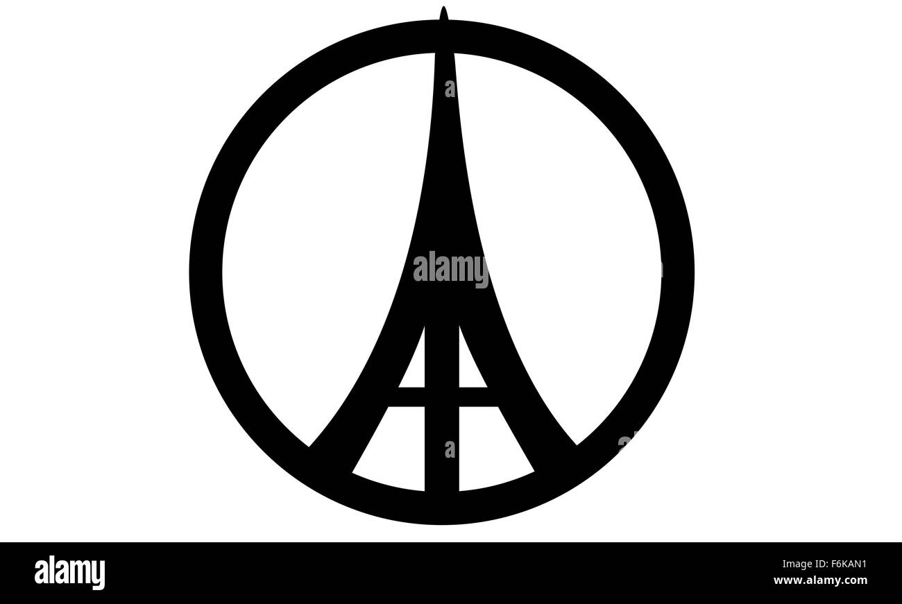 Eiffel tower peace symbols stock photo royalty free image eiffel tower peace symbols biocorpaavc