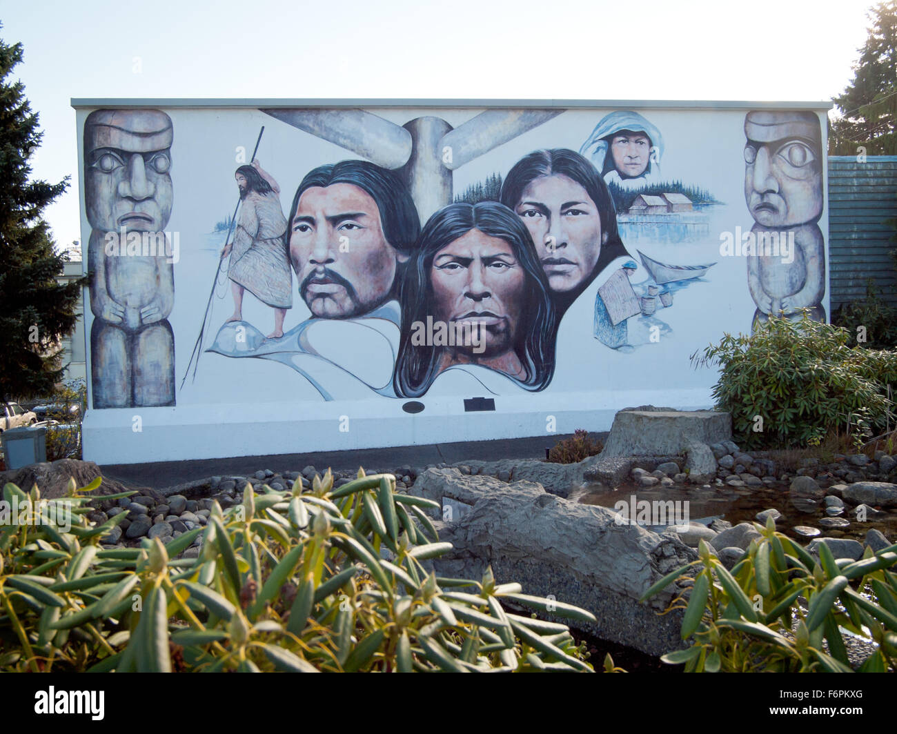 chemainus town outdoor wall murals vancouver island bc british the outdoor wall mural native heritage by artist paul ygartua in the town