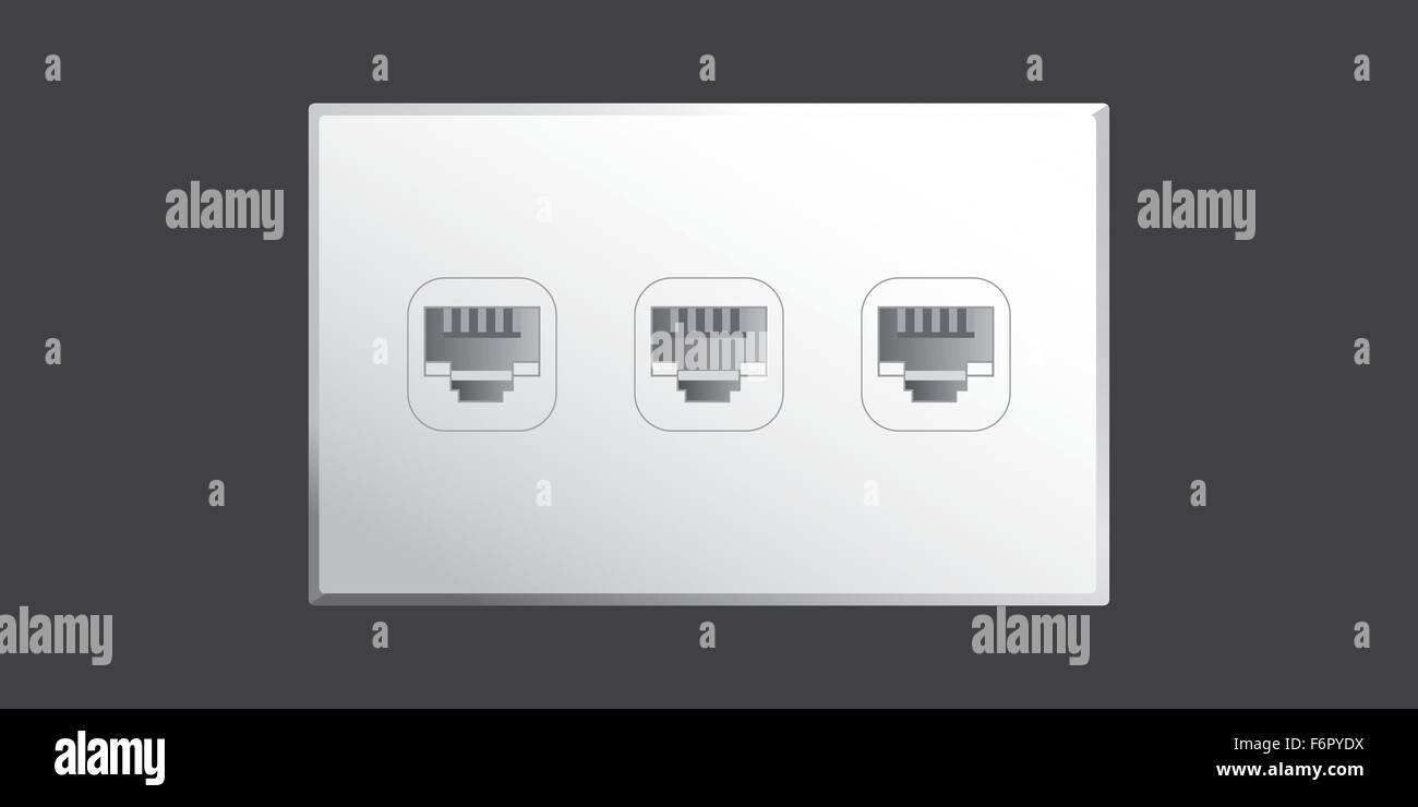 ethernet socket in wall how to use