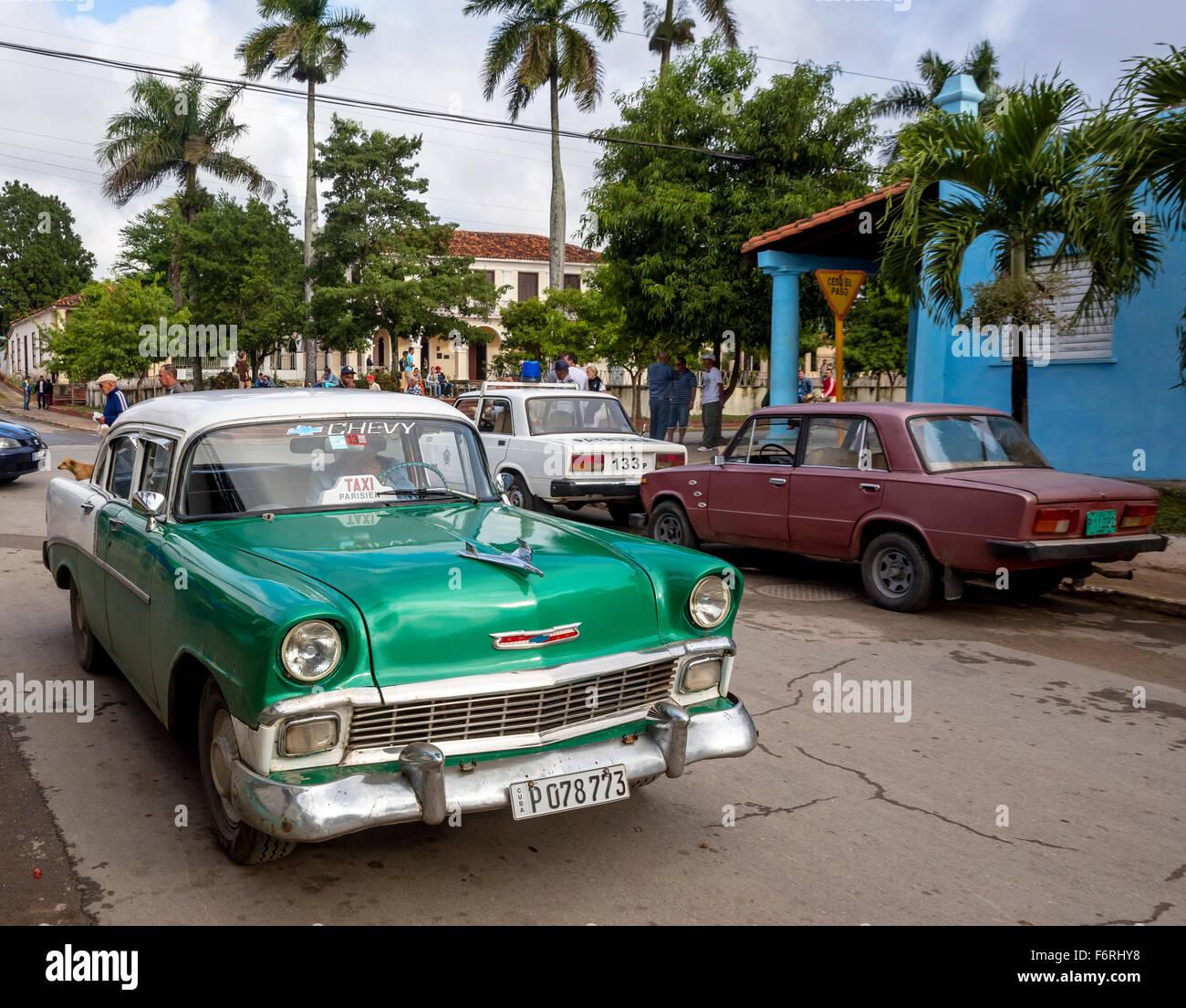 Vintage, old Chevrolet, Chevy, road cruiser in Vinales in Vinales ...