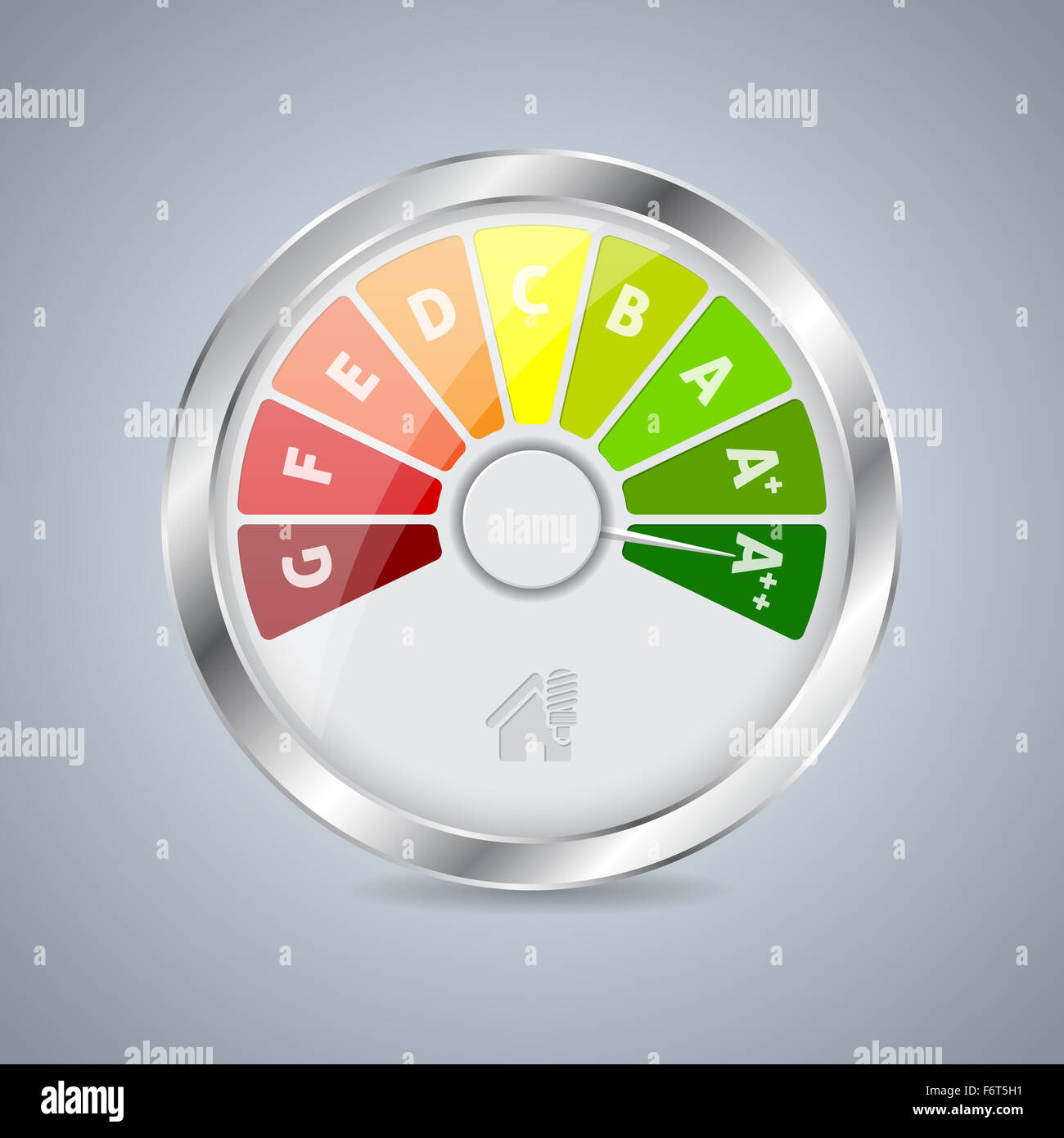 Energy Class Gauge Design With House Icon