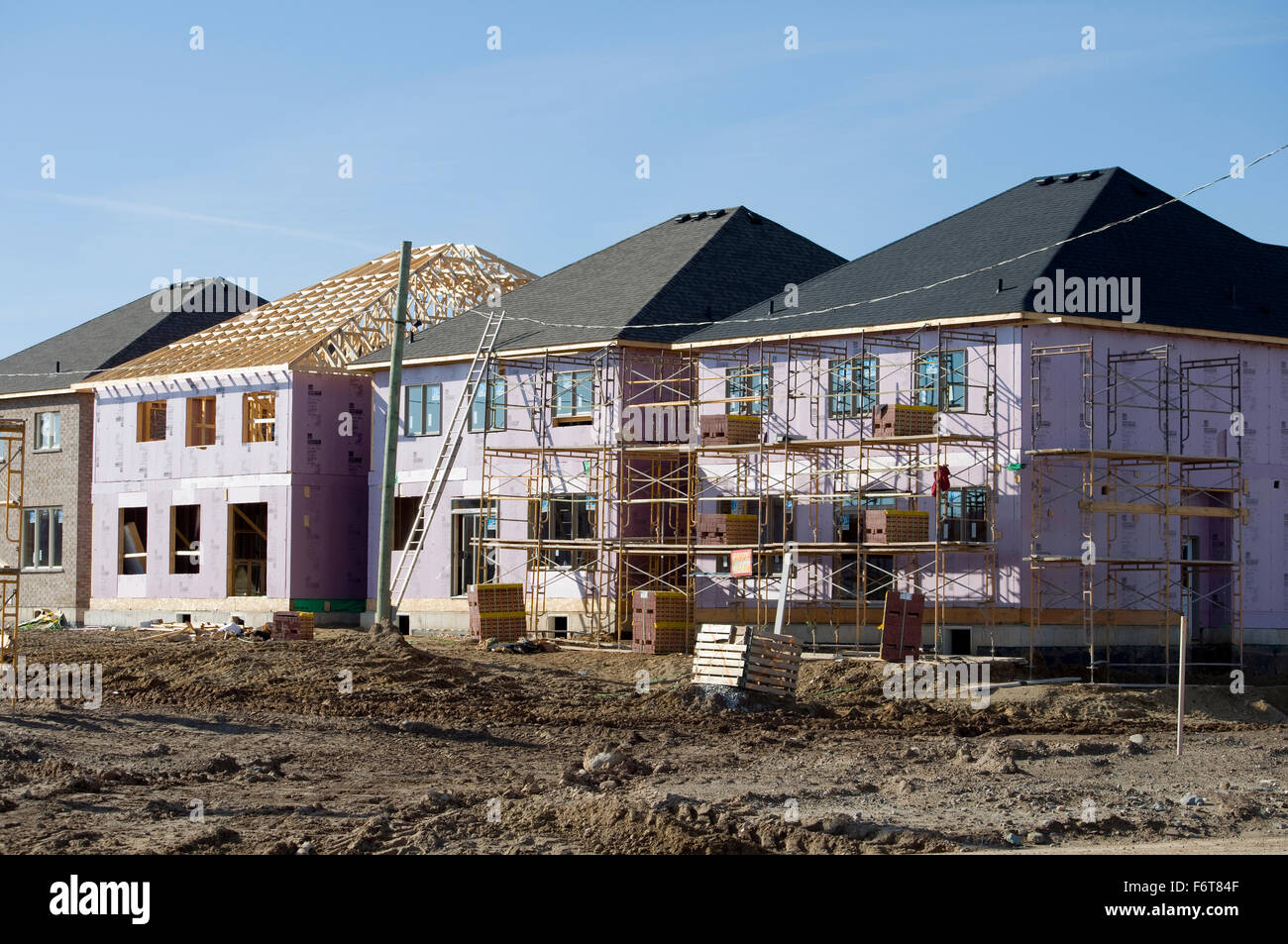 New homes being built in greater Toronto area Stock Photo
