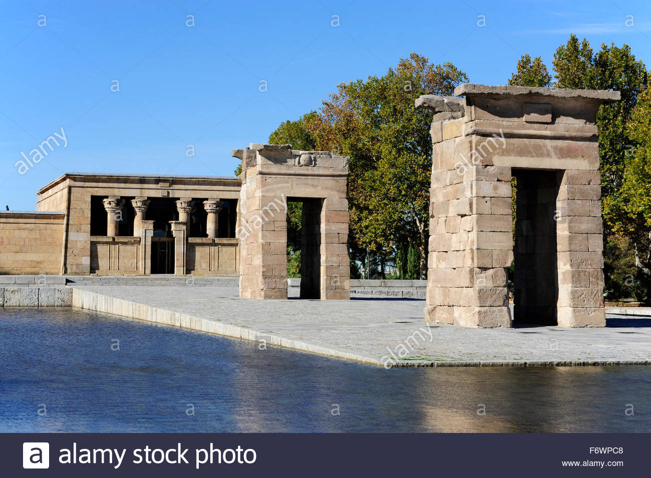 egyptian temple from antiquity templo de debod parque de la montana arguelles madrid spain