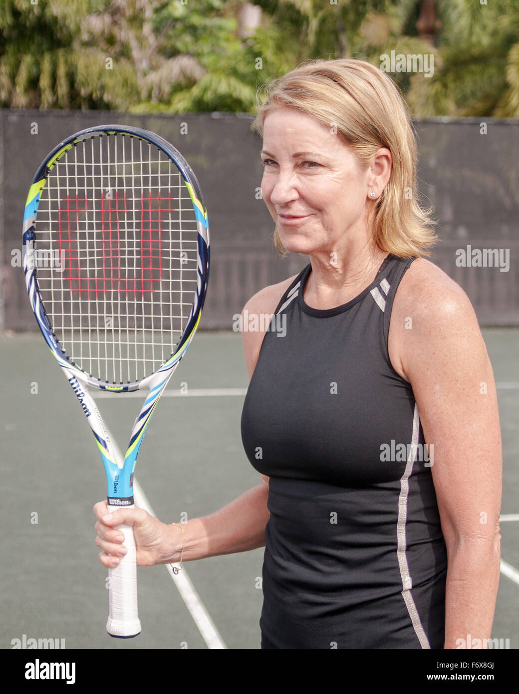 Boca Raton Florida US 20th Nov 2015 Tennis legend Chris Evert