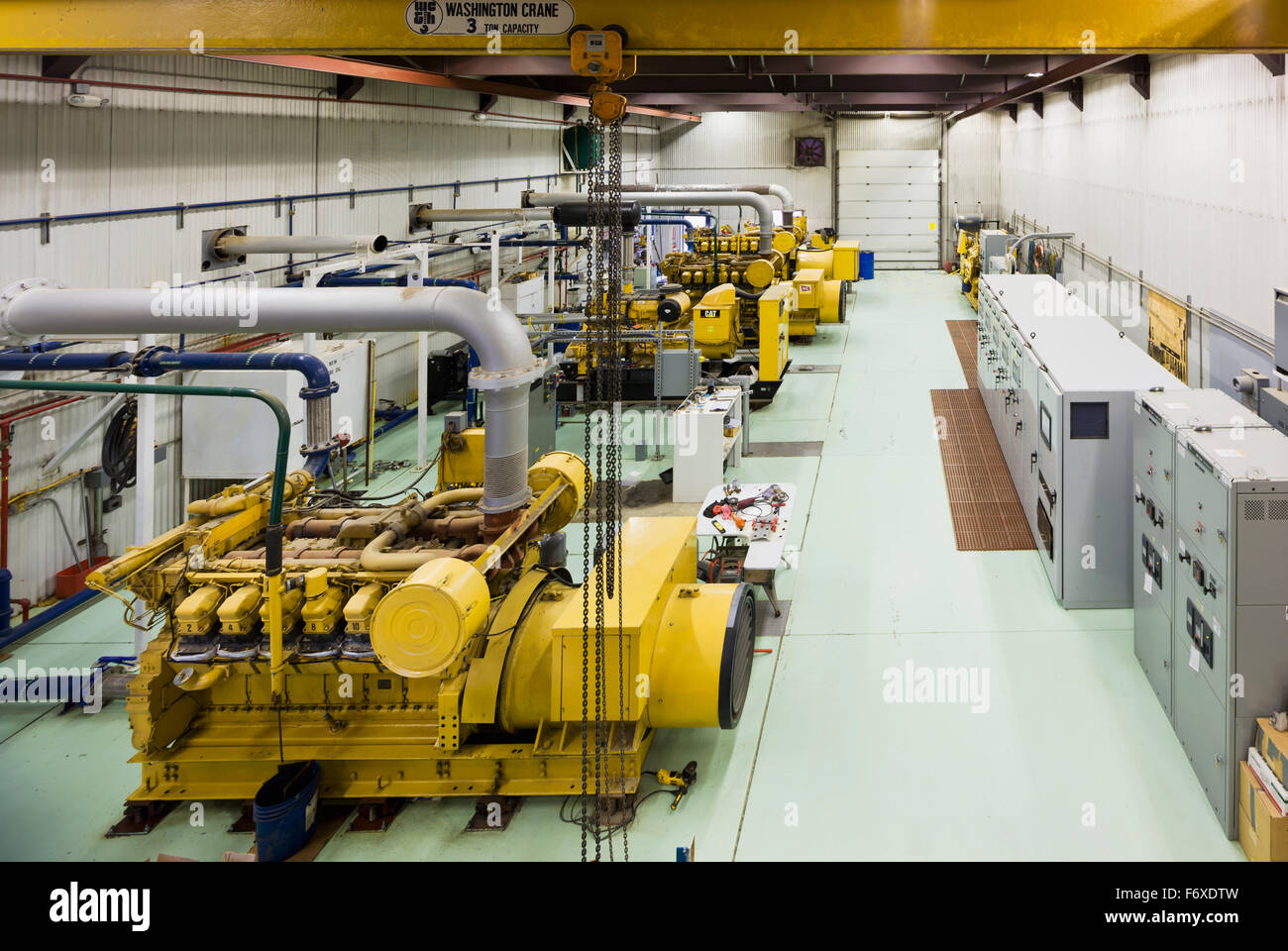 power plant generators. Yellow Diesel Generators At An Electrical Power Plant, Sand Point, Southwestern Alaska, USA Plant