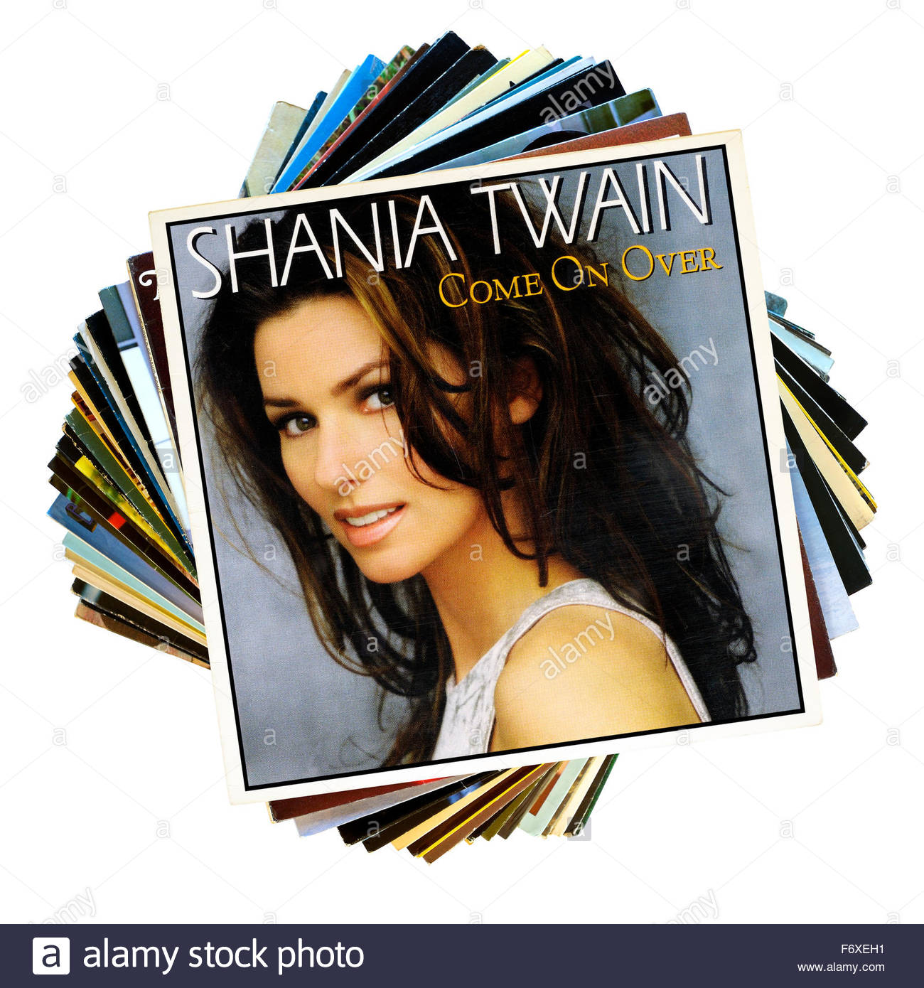 Shania Twain 1997 Album Come On Over Stack Of Lp Records