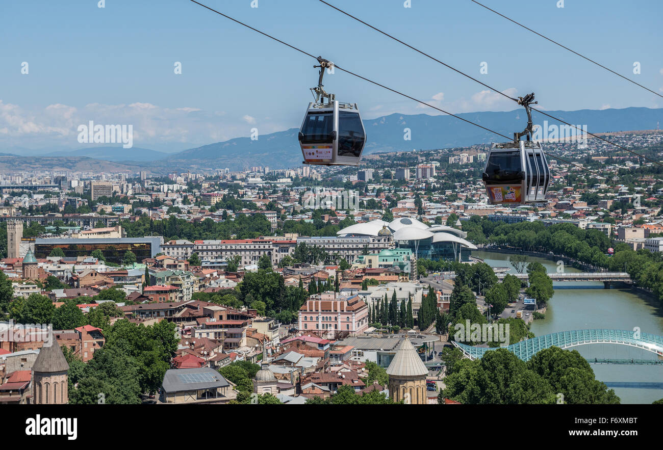 How To Buy A Car In Tbilisi Georgia: Aerial View From Narikala Hill On Tbilisi, Georgia Stock