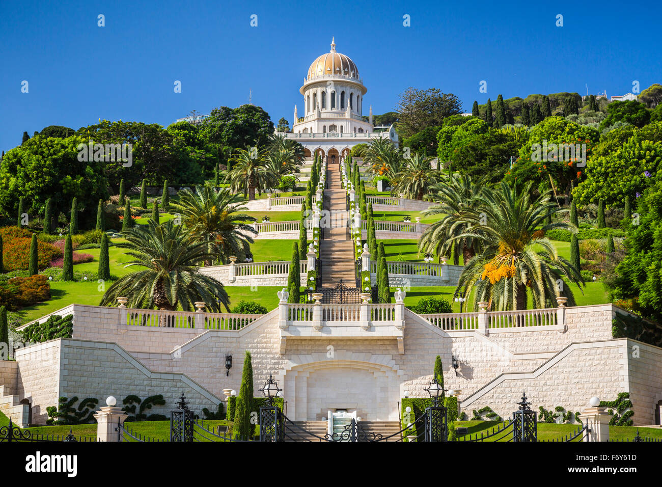 The Baha I Shrine And Gardens On The Slopes Of Mount