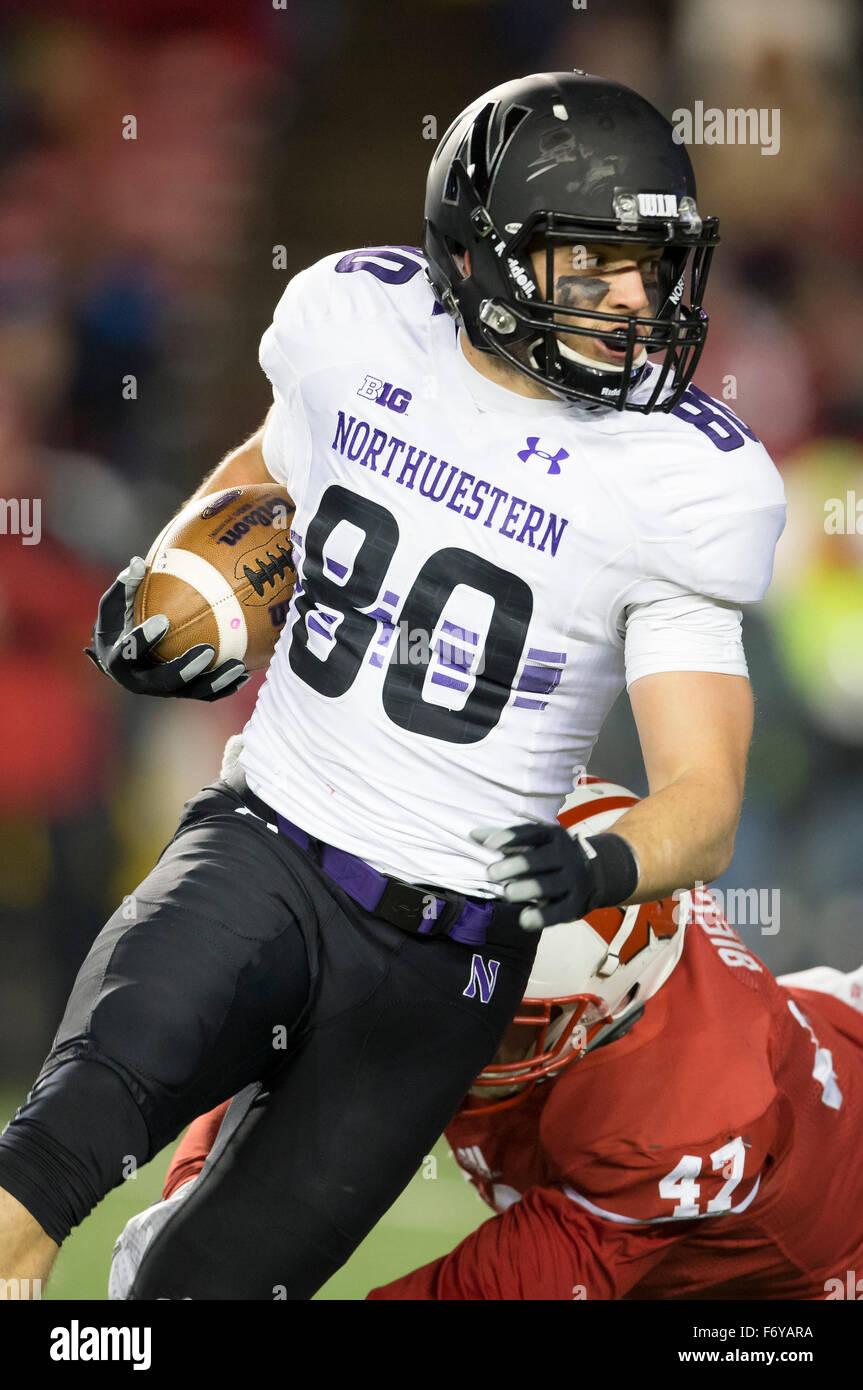 Madison WI USA 21st Nov 2015 Northwestern Wildcats wide