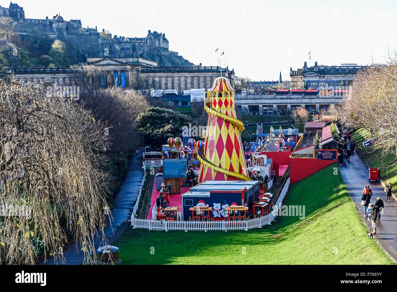 Edinburgh Christmas market 2015 in East Princes Gardens Edinburgh ...