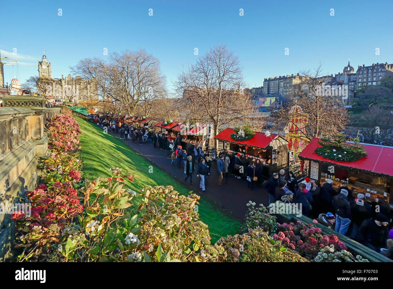 Edinburgh Christmas market 2015 in East Princes Gardens Edinburgh ...