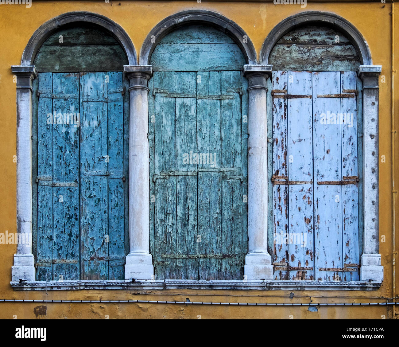 Building Exterior Shutters Venice Italy Exterior Building Detail Arched Windows With