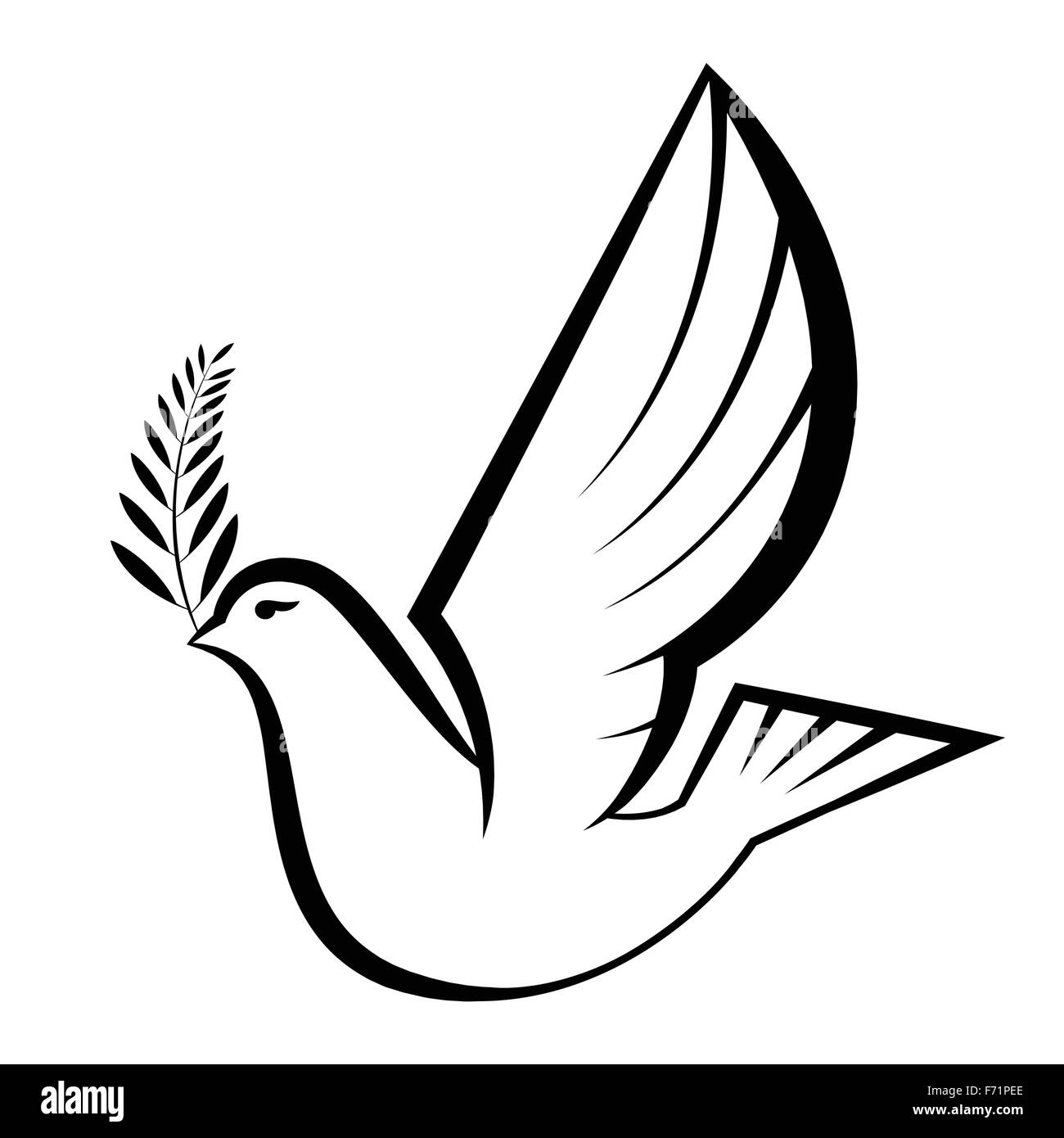 Peace dove stock photos peace dove stock images alamy simple illustration of peace dove carrying olive branch stock image biocorpaavc Image collections