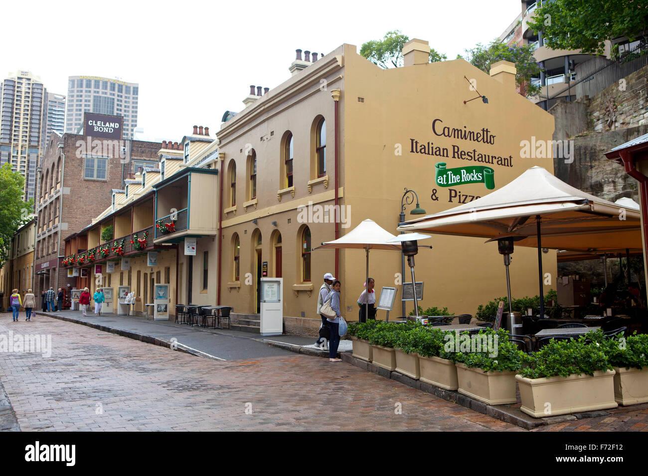 Caminetto italian restaurant at the rocks sydney for Australian cuisine restaurants sydney