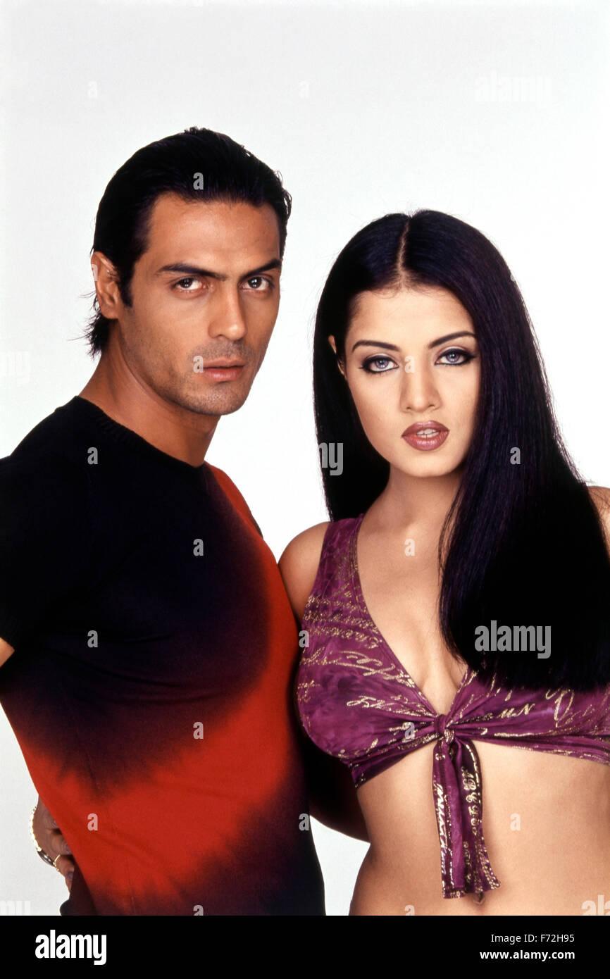 Indian Film Actress And Actor Celina Jaitley With Arjun Rampal India Asia