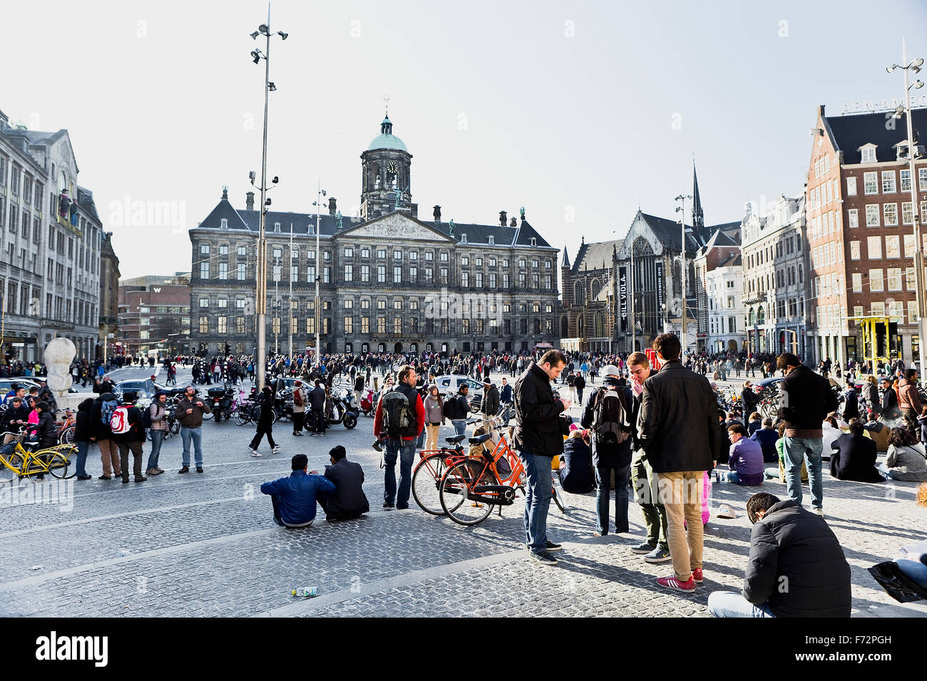 Image Of Crowds Of People In Dam Square Amsterdam At