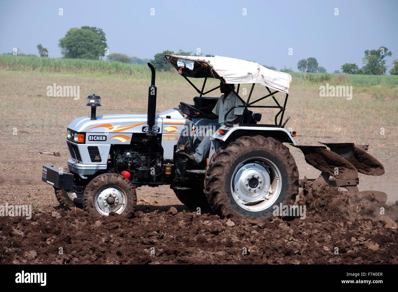Farmer tractor, shirdi, nasik, maharashtra, india, asia ...