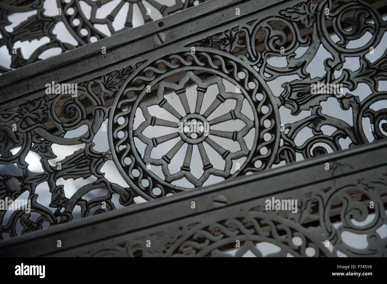 Beautiful Details Of The Cast Iron Steps On The Circular Staircase In The Tower Of  The Granitz Hunting Lodge Near Binz, Germany, 23 November 2015.