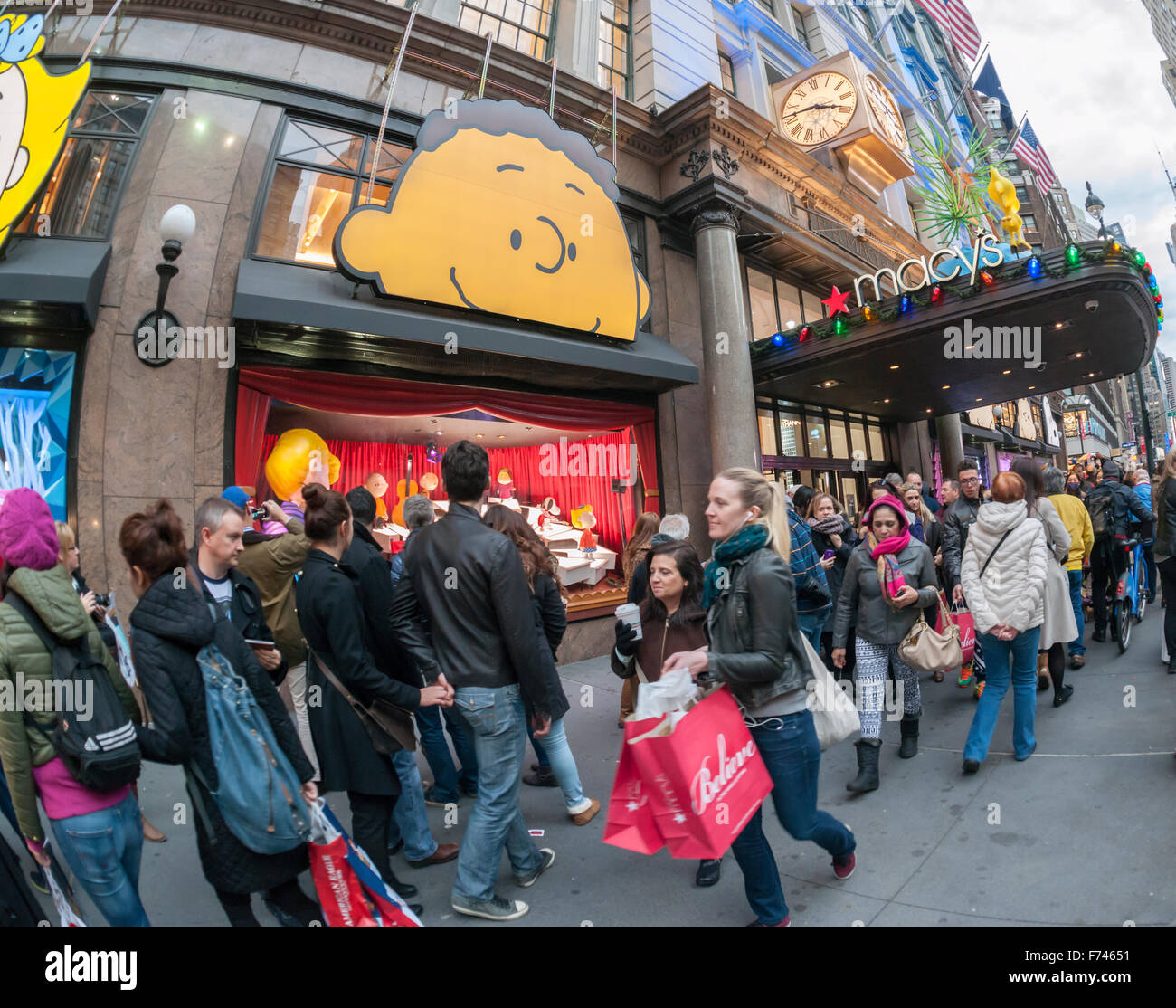 Crowds Of Visitors To Macy's Herald Square In New York